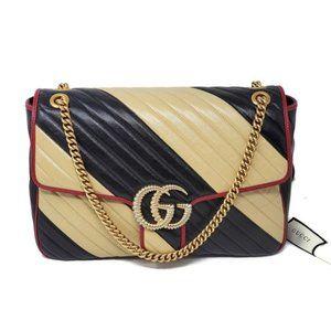 Gucci Large Marmont Bicolor Crossbody Bag $2,800++